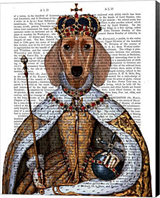 Dachshund Queen By Fab Funky Canvas Art