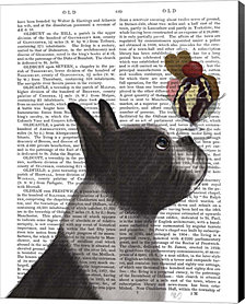 Boston Terrier Ice Cream by Fab Funky Canvas Art