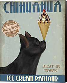 Chihuahua, Black, Ice Cream by Fab Funky Canvas Art