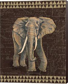 Grand Elephant Traveller by Naomi McBride Canvas Art