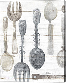 Spoons And Forks Ii Neutral By Albena Hristova Canvas Art