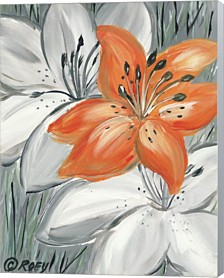 Tiger Lily In Orange By Roey Ebert Canvas Art