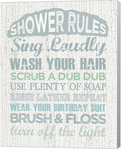 Metaverse Shower Rules By Erin Clark Canvas Art