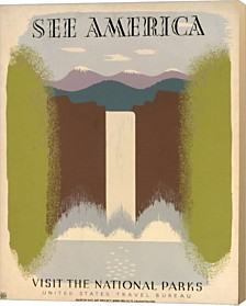 Wpa See America I By Vintage Apple Collection Canvas Art