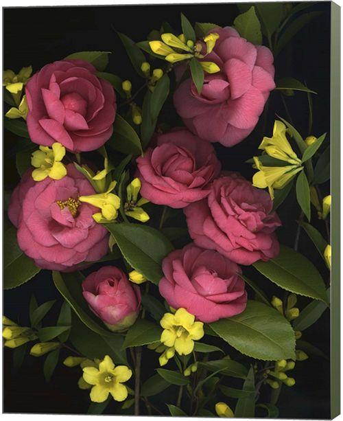 Metaverse Camellia 2 By Susan Barmon Canvas Art