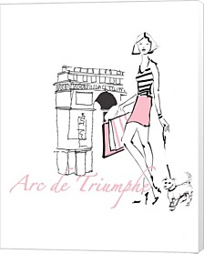 French Chic Ii Pink On White By Avery Tillmon Canvas Art