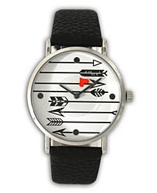 Love Arrows Leather Strap Watch