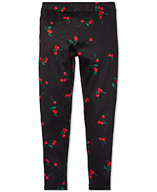 Polo Ralph Lauren Big Girls Cherry-Print Jersey Leggings