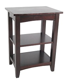 Shaker Cottage 2 Shelf End Table, Espresso