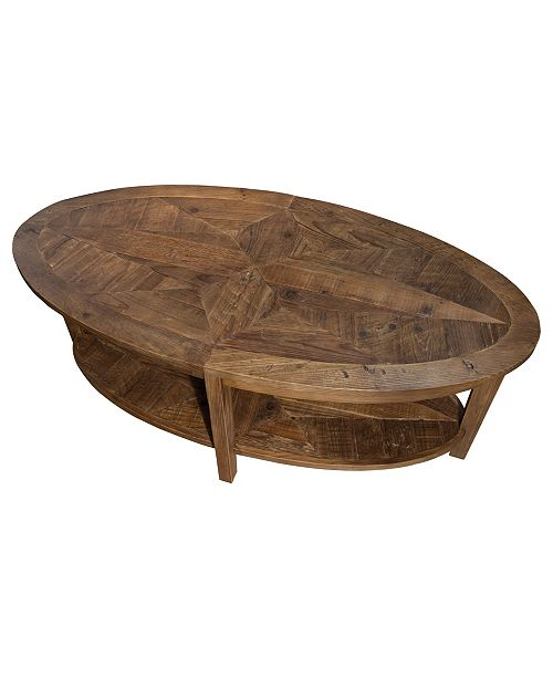 Bolton Furniture Revive Reclaimed 48 Oval Coffee Table Natural Macy S