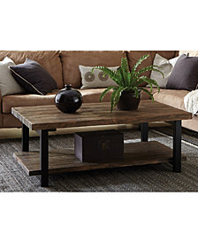 "Pomona 48""L  Metal and Reclaimed Wood Coffee Table"
