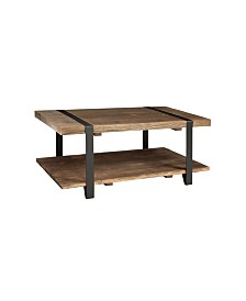 "Modesto 42""L Reclaimed Wood Coffee Table"
