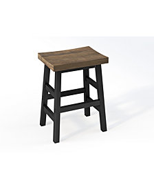 "Pomona - Reclaimed Wood 26"" Counter Stool with Metal Legs"