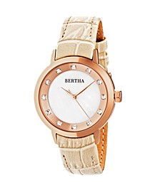 Quartz Cecelia Collection Creamleather Watch 34Mm