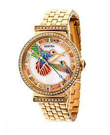Bertha Quartz Emily Collection Gold Stainless Steel Watch 37Mm