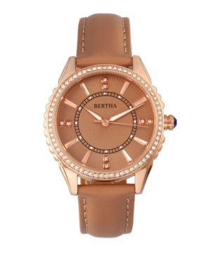 Quartz Clara Collection Khaki Leather Watch 39Mm