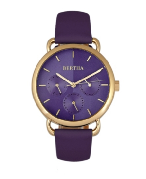 Quartz Gwen Collection Purple Leather Watch 36Mm