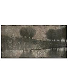 """'Gray Banks' Abstract Canvas Wall Art, 24x48"""""""