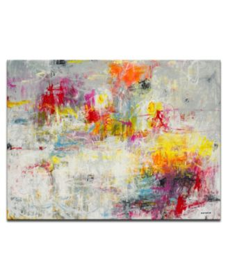 """'Tie Dye' Colorful Abstract Canvas Wall Art, 20x30"""""""