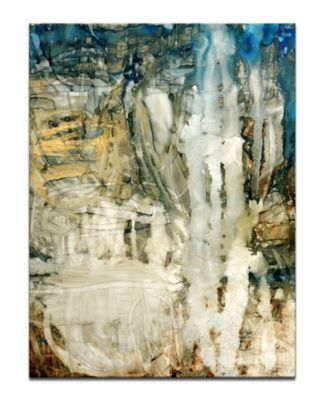 'Ravine Falls I' Abstract Canvas Wall Art, 30x20""