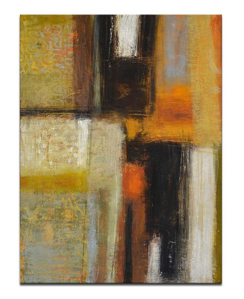 Ready2HangArt 'Down to Earth I' Abstract Canvas Wall Art, 30x20""