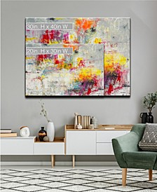 'Tie Dye' Colorful Abstract Canvas Wall Art Collection