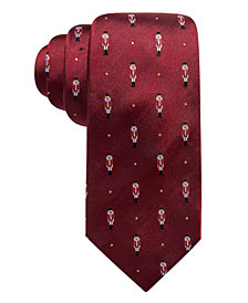 Club Room Men's Holiday Penguin with Hat Silk Tie, Created for Macy's