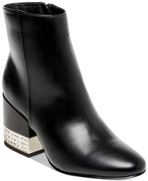 b9fd2e728 Madden Girl Ambrose Jeweled Block-Heel Booties & Reviews - Boots ...