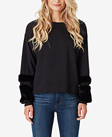 Jessica Simpson Juniors' Molly Faux Fur-Trim Sweatshirt
