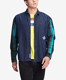 01c51aa9bdf3b6 Tommy Hilfiger Denim Men s Chad Colorblocked Plaid Denim Shirt