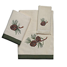Avanti Pine Creek Embroidered Fingertip Towel