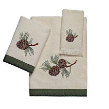 Avanti Pine Creek Embroidered Bath Towel