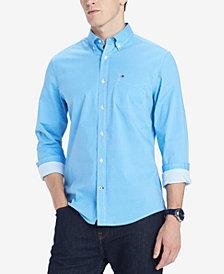 Tommy Hilfiger Men's Gates Custom-Fit Stretch Geo-Print Twill Shirt