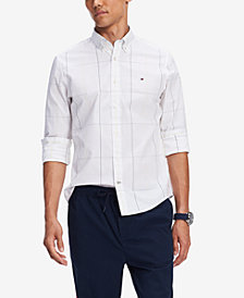 Tommy Hilfiger Men's Olson Custom-Fit Stretch Windowpane Shirt