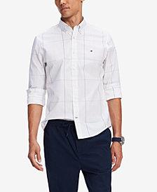Tommy Hilfiger Men's Olson Custom-Fit Stretch Windowpane Shirt