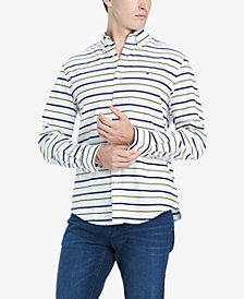 Tommy Hilfiger Men's Logan Custom-Fit Stripe Shirt