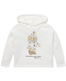 Polo Ralph Lauren Little Girls Holiday Bear Hoodie