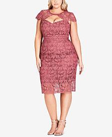 City Chic Trendy Plus Size Lace Dress