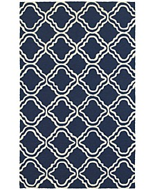CLOSEOUT!   Atrium Indoor/Outdoor 51111 Blue/Ivory 5' x 8' Area Rug