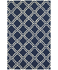 Tommy Bahama Home  Atrium Indoor/Outdoor 51111 Blue/Ivory 5' x 8' Area Rug