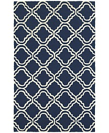 CLOSEOUT! Tommy Bahama Home   Atrium Indoor/Outdoor 51111 Blue/Ivory 5' x 8' Area Rug