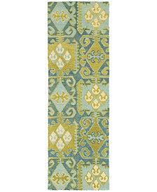 "Tommy Bahama Home  Jamison 53304 Blue/Green 2'6"" x 8' Runner Area Rug"