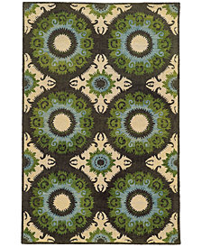 Tommy Bahama Home  Jamison 53307 Black/Green 10' x 13' Area Rug