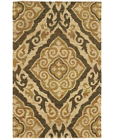 """Tommy Bahama Home  Valencia 57705 Beige/Gold 3'6"""" x 5'6"""" Area Rug"""
