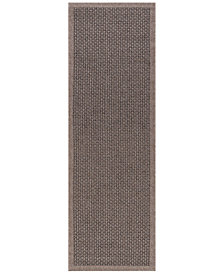 "KM Home Croix Indoor/Outdoor 2'4"" x 7'3"" Runner Area Rug"