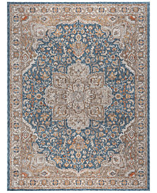 "KM Home Harper HA3307 Navy 9'2"" x 12'6"" Area Rug"