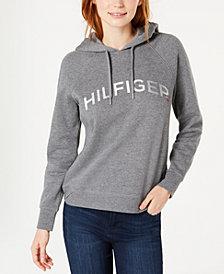 Tommy Hilfiger Sport Foiled Logo Print Hooded Sweatshirt