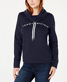 Tommy Hilfiger Cowl-Neck Logo Top