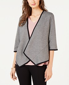 Alfani Drape-Front Cardigan, Created for Macy's