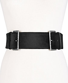 I.N.C. Studded Double-Buckle Belt, Created for Macy's
